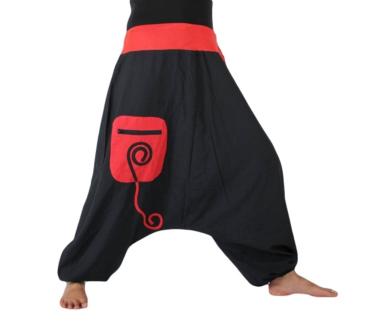 Goa hose rot schwarz