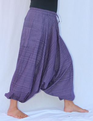7/8 Aladin Pants Cotton Purple