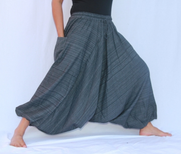 7/8 Aladin Pants Cotton Grey