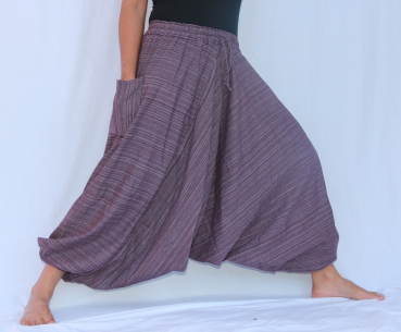 7/8 Aladin Pants Cotton Dark Purple