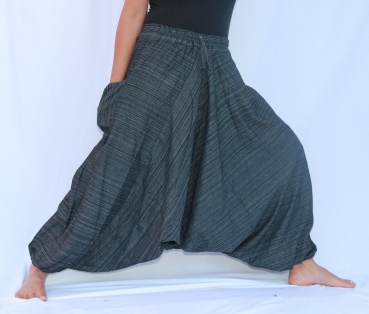 7/8 Aladin Pants Cotton Black