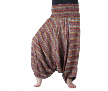 Printed Harem Afgan Pants brown
