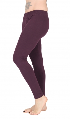 "Yoga Tights ""Devi"" Organic Cotton Purple"