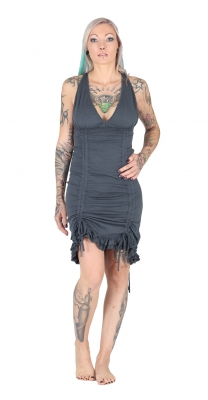 Organic & Fairtrade Steampunk Dress Grey