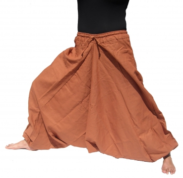 Hemp Aladdin Pants Brown
