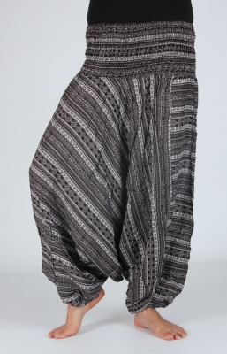 Printed Harem Afgan Pants grey