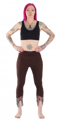 Pointy Yoga Leggings Brown