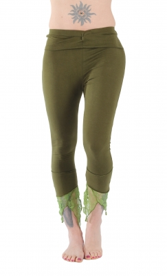 Pointy Yoga Leggings Green