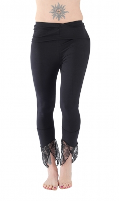 Pointy Yoga Leggings Black