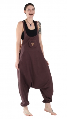 Jumpsuit Overall Harem Pants Hippy Trousers Brown