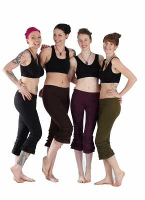 "Goa Yoga Leggings ""Goddess"" Black, Brown,Green,Pruple"