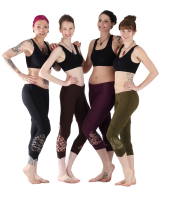 "Goa Yoga Leggings ""Lace"" Black, Brown,Green,Pruple - Kopie"