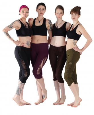"Goa Yoga Leggings ""CUT"" Black, Brown,Green,Pruple"