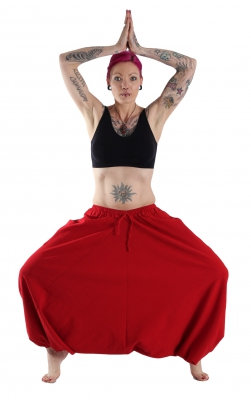 Aladdin Pants Cotton Red
