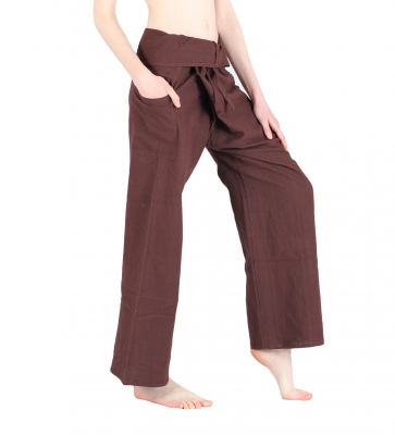 Slim Fit - Thai Wickelhose Fischerhose Braun