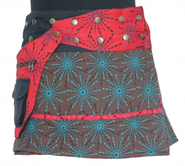Boho Hippy Mini Skirt Brown