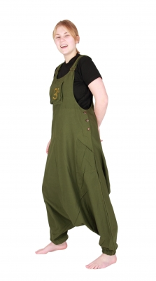 Jumpsuit Overall Harem Pants Hippy Trousers Green