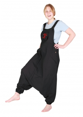 Jumpsuit Overall Harem Pants Hippy Trousers Black
