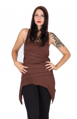 Sleeveless and Backless Sassy Summer Dress brown
