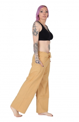 Slim Fit - Thai Wickelhose Fischerhose Beige