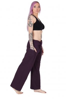 Slim Fit - Thai Wickelhose Fischerhose Lila