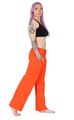 Slim Fit - Thai Wickelhose Fischerhose Orange