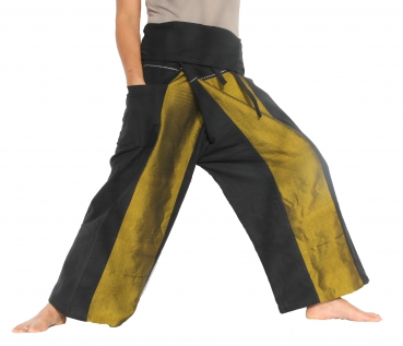Thai Wickelhose / Fisherman Pants / Seide Gelb