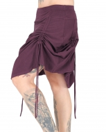 "Organic Cotton Skirt ""Tribal"" Gipsy Design Purple"