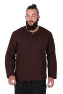 Thai Fisherman Shirt Cotton Brown