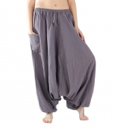 Unisex Aladdin Pants cotton Dark Grey