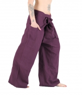 Thai Fisherman Yoga Hose Lila Dunkel