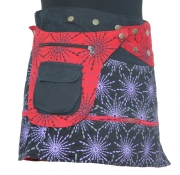 Boho Hippy Mini Skirt Black