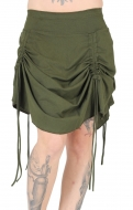 "Organic Cotton Skirt ""Tribal"" Gipsy Design Green"